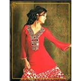 Attractive Sequins & Mirror Work Ladies Blouse Tunic Top Kurta Kurti