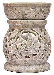 Artist Haat Handcrafted Stone Aroma Lamp Aroma Oil Burner Diffuser Air Freshner