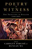 Poetry of Witness: The Tradition in English, 1500 - 2001
