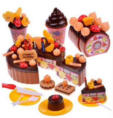 Children Play Toys, Baby'S Birthday Cake And Toys, 3 To 7 Years Old Girl Play With Toys (73 Pieces) front-1008858