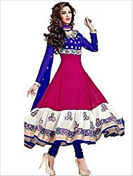 Creative Boutique Pink Coloured Georgette and Santoon Fancy Dress Material