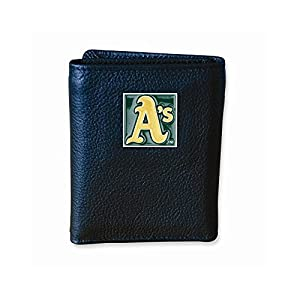 Mlb Athletics Tri-fold Wallet - Embossing Personalized Gift Item