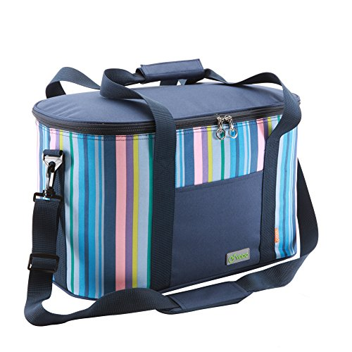 Yodo 25L Collapsible Soft Cooler Bag - Insulated up to 4 - 6 hours, Rommy for Family Reunion, Party, Beach, Picnics, Sporting Music Events, Everyday Meals to Work (Soft Pack Cooler Family compare prices)