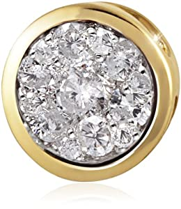 Goldmaid Anhänger Glamour 585 Gelbgold 13 Brillanten 0,33 ct. Pa A5733GG