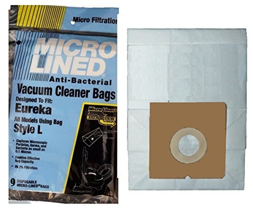 (9 Pack) Eureka Style L Micro-Lined Vacuum Bags To Fit Mini Mite Canister Bags (Eureka Mite Mite compare prices)