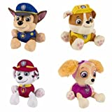 Paw Patrol Plush Pup Pals Stuffed Animal Toy Set: Chase, Rubble, Marshall & Skye