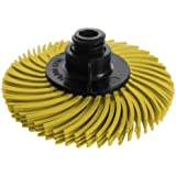 JoolTool Scotch-Brite Yellow Radial Bristle Brush Assembled with Plastic Tapered Mandrel Hub, Grit 80