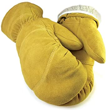 Deerskin Leather Mitten with Pull Out Liner - Leatherbull (Free U.S. Shipping) (2XL, TAN)