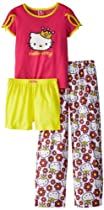 Hello Kitty Girls 7-16 3 Piece Pajama Set, Assorted, 8