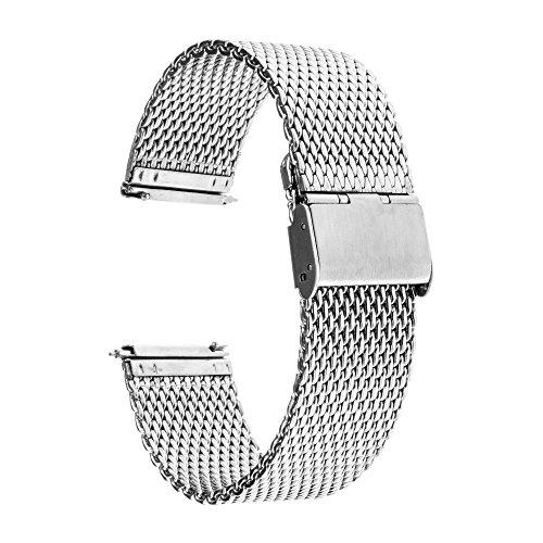 TRUMiRR 22 millimetri Milanese Loop Watch Band Strap serratura magnetica per Samsung Gear 2 R380 R381 Neo diretta R382, Moto 360 2 46 millimetri, Pebble Tempo / acciaio, Asus ZenWatch 1 2 uomini, LG G Watch Urbane W150