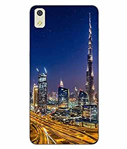 Case Cover Dubai Printed Multicolor Hard Back Cover For LYF WATER 8