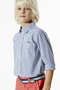 Boy's Long Sleeve Mini Poplin Check Shirt