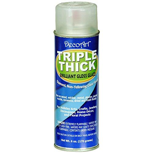 DecoArt Triple Thick Gloss Glaze Spray, 6-Ounce (Glossy Spray Paint compare prices)