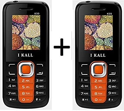 I Kall K99 set of 2 Dual Sim Mobiles (Orange & Orange)