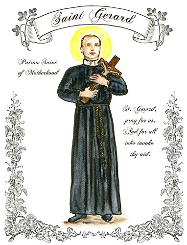 "11"" X 14"" St Gerard Patron Saint Of Motherhood And Expecting Mothers Art Print front-469229"
