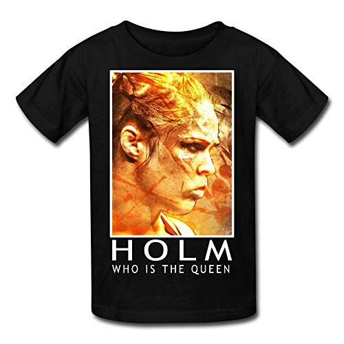 SFMY Kid's Holly Holm UFC 181 Who Is The Queen T-shirt Size M Black