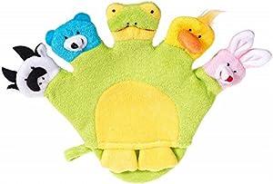 Bieco 04004109 - Manopla de baño con muñecos (aprox. 22 x 29 x 2 cm), color verde de Bieco en BebeHogar.com