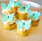 Edible Butterflies © - Small Tiffany Color Set of 24 - Cake and Cupcake Toppers, Decoration