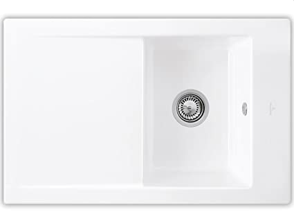 Villeroy Boch Timeline &45 Alpine White Ceramic Sink EB.S450H Kuche