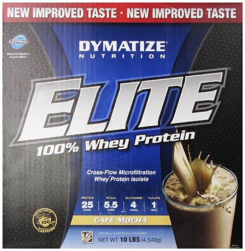 Dymatize Nutrition Elite Whey Shake, Cafe Mocha, 10 Pound