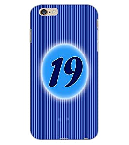 PrintDhaba Numerology Number 19 D-2577 Back Case Cover for APPLE IPHONE 6S (Multi-Coloured)