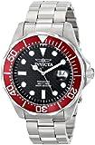 Invicta Men's 12565X Pro Diver Black Carbon Fiber Dial Stainless Steel Watch
