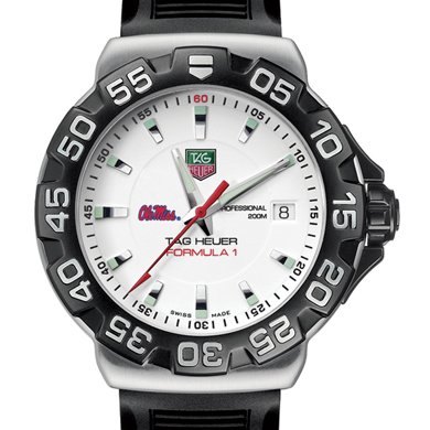 Ole Miss TAG Heuer Watch - Men's Formula 1 Watch with Rubber Strap