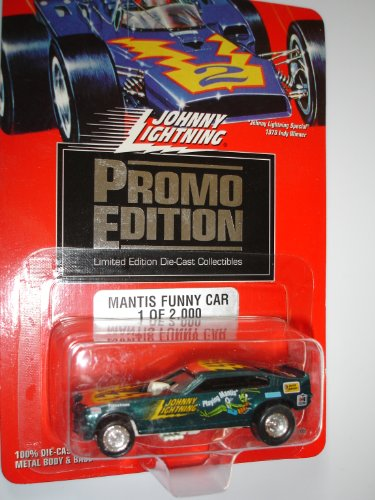 Johnny Lightning 1994 PROMO Edition - 1 of 2,000 Limited Edition - Dark Green Mantis Funny Car - 1