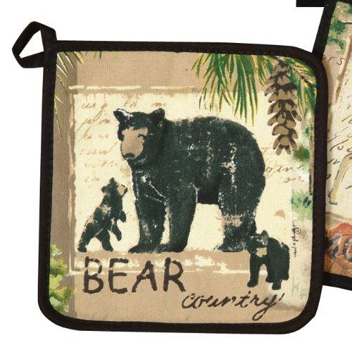 Bear Wilderness Rustic Pot Holder - Wilderness Kitchen Tableware (Rustic Kitchen Ware compare prices)