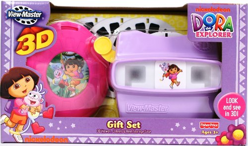 51pvU zoaVL Buy  Fisher Price View Master Dora the Explorer 3D Deluxe Gift Set