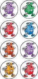 Teacher Created Resources Robots Mini Stickers (5316)