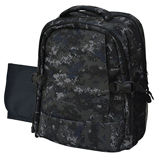 diaper back pack backpack with changing pad travel diaper bag camouflage ii. Black Bedroom Furniture Sets. Home Design Ideas