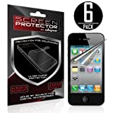 Skque® Apple® Iphone® 4g Anti Glare Screen protector for Apple® Iphone® 4 / 4G Series (6 Pack)