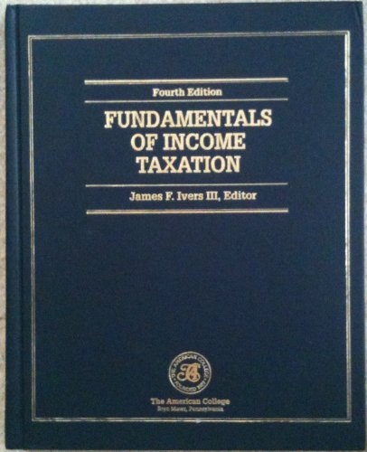 Fundamentals of Income Taxation