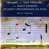 img - for By Gary S. Karpinski Student Recordings: for Manual for Ear Training and Sight Singing (Cdr Stu) book / textbook / text book