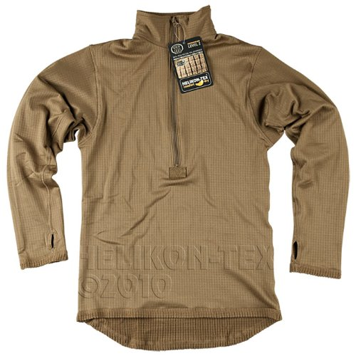 Helikon Tactical Thermal Mens Vest Underwear Shirt Warm Long Sleeve Top Coyote