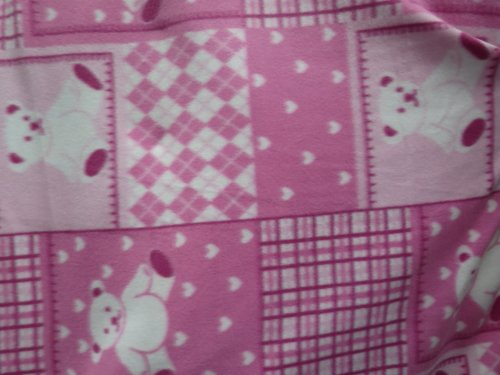 Teddy Bears And Hearts On Pink Fleece 58 Inch Wide Fabric By The Yard From The Fabric Exchange ® front-166988