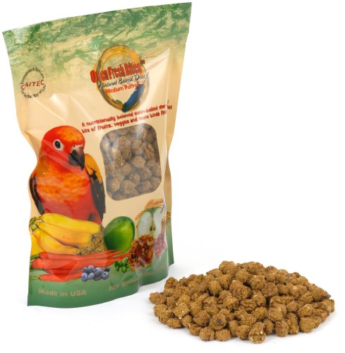 Freshly Baked Pet Bird Food, For Conures, Caciques, African Greys - 28-Ounce Resealable Package