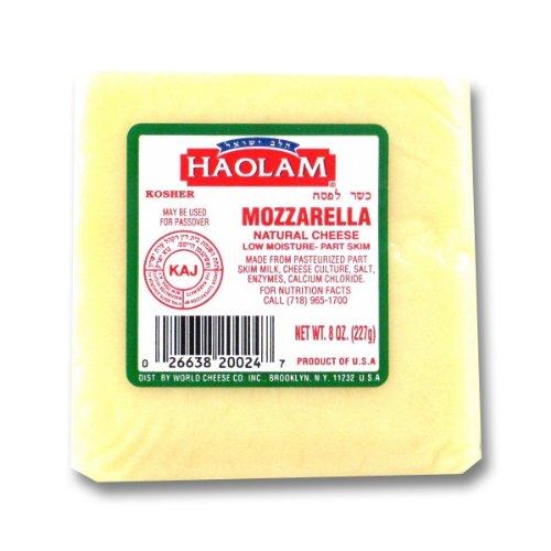 Haolam - Cholov Yisroel Mozzarella Natural Cheese Blocks (8 oz.) - 6 Pack