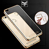 TGK™ Luxury Electroplated Golden Border High Quality TPU Soft Flexible Back Cover For Xiaomi Redmi 3S PRIME (Not...