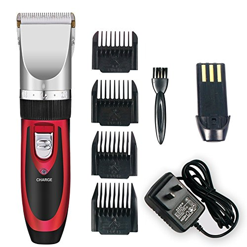 Hair Shaver Rechargeable Professional Haircut Grooming Clipper,Red (Professional Detail Trimmer compare prices)