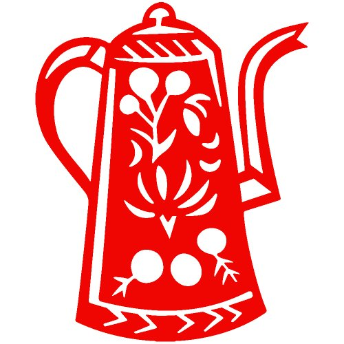 Cofee Tea Pot Kettle Decal Sticker (Red, 14 Inch)