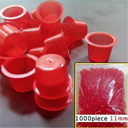 CINRA® 1000pcs Medium Tattoo Red Ink Cups Plastic Caps Tattoo Supplies