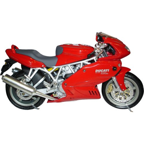 New Ray Ducati Super Sport 1000DS Replica Motorcycle Toy - Red / 1:12 Scale