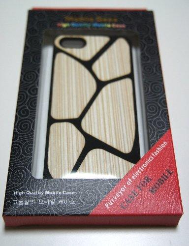 【39s】 iPhone5用高品質Woodシリーズ PCケース ブラック&ホワイト