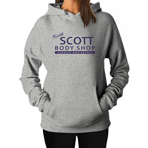 Teestars Women'S - Scott Body Shop Hoodie Small Grey front-356559