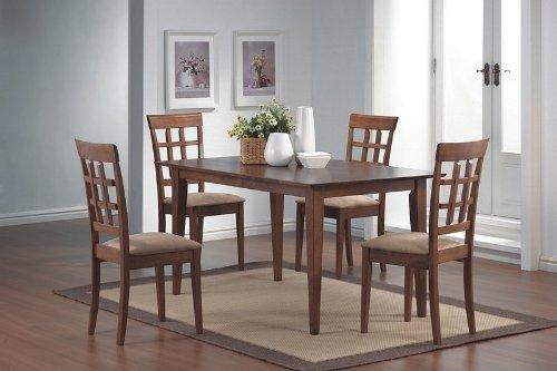 5pcs-wheat-back-walnut-finish-dining-table-4-chairs-set