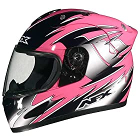 AFX FX-30 Full Face Motorcycle Helmet Pink Medium N/A N/A N/A