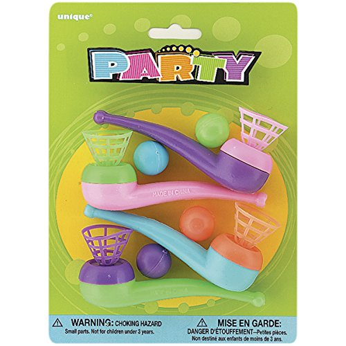 Unique Industries Party Favors Assorted, Blow Pipes (4 Pack) - 1