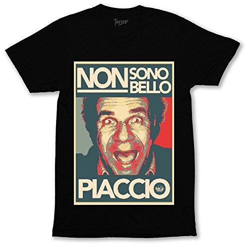 Teeser, T-shirt Gerry Cala art - Maglietta design con stampa HD alta qualità - Cotone, girocollo, Colore: Nero, Taglia: Medium
